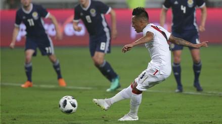 Christian Cueva de penal abrió el marcador en el Perú vs. Escocia