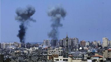 Israel bombardea Gaza tras el ataque con 28 proyectiles contra su territorio