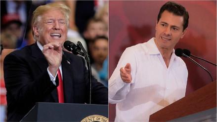"""""""México va a pagar el muro"""", dice Trump; """"ni ahora ni nunca"""", responde Peña Nieto"""