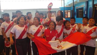 Niños de Monsefú confían en un buen desempeño de Perú en el mundial