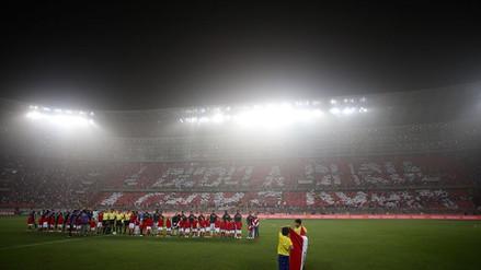 El imponente mosaico que recibió a la Selección Peruana