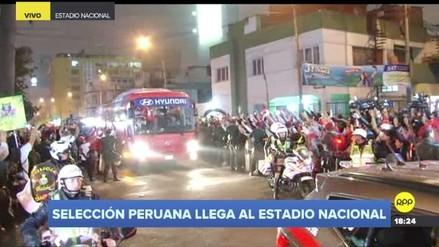 La emocionante llegada de la Selección Peruana al Estadio Nacional