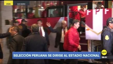 Selección Peruana partió al Estadio Nacional con el apoyo de los hinchas