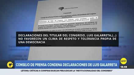 Consejo de la Prensa condenó declaraciones de Galarreta contra la prensa