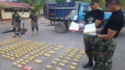 Policía Nacional decomisó 114 kilos de cocaína de alta pureza en el Vraem