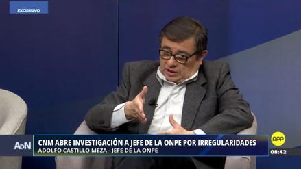 Jefe de la ONPE negó favoritismo hacia Podemos Perú y dijo no temer a investigaciones