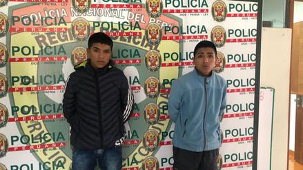 Policía captura a dos jóvenes acusados de integrar banda delincuencial en Villa El Salvador