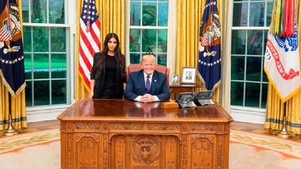 Trump recibió a Kim Kardashian en la Casa Blanca para hablar del sistema carcelario