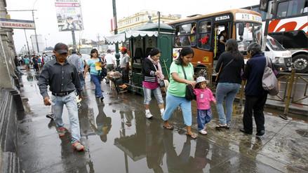 Senamhi pronostica que lloviznas se repetirán el viernes en varios distritos de Lima
