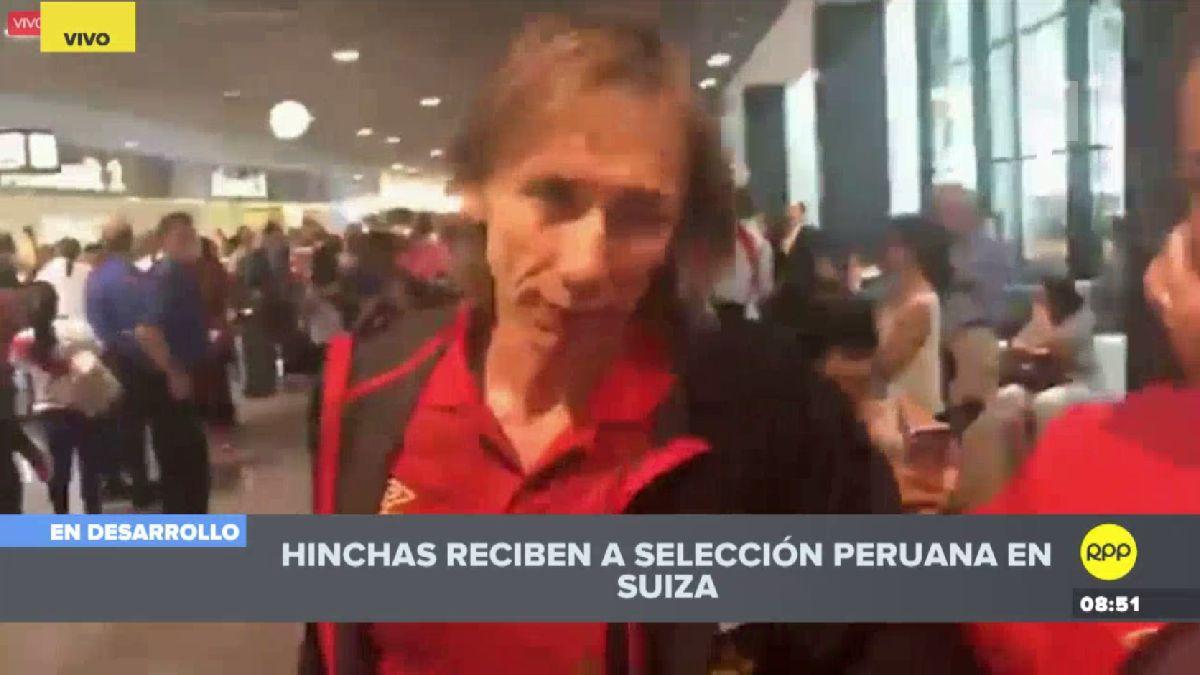 La Selección Peruana llegó a Suiza y fue recibida por decenas de hinchas