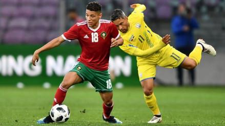 Marruecos empató 0-0 ante Ucrania en un amistoso jugado en Ginebra