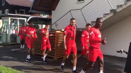 Selección Peruana inició su primer entrenamiento en Austria