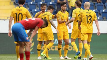 Australia goleó a República Checa en su primer amistoso previo al Mundial