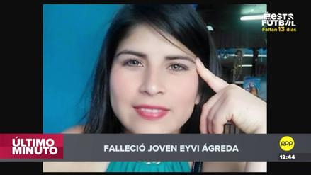Murió Eyvi Ágreda, la joven quemada en un bus en Miraflores