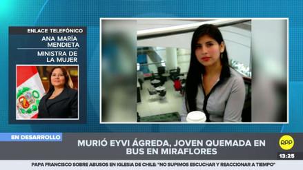 """Mendieta pidió la máxima sanción para el asesino de Eyvi Ágreda: """"No nos pueden seguir matando"""""""