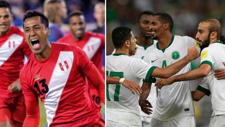 La comparativa de la Selección Peruana y su similar de Arabia Saudita