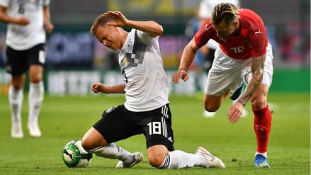 Alemania cayó 2-1 a manos de Austria en la vuelta de Manuel Neuer a las canchas