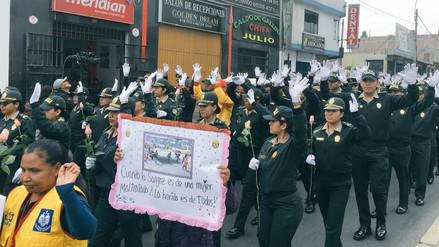 Policía y juntas vecinales marcharon contra la violencia a la mujer en San Juan de Lurigancho