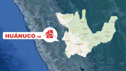 Un sismo de magnitud 5.1 remeció Huánuco esta tarde