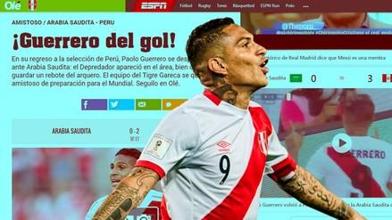 Así informaron los medios internacionales los goles de Paolo Guerrero