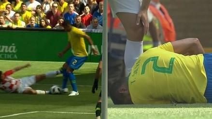 Susto en Brasil: la terrible falta que casi lesiona a Thiago Silva