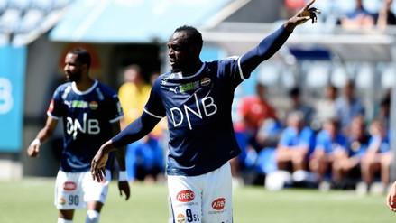 Usain Bolt debutó como futbolista con un club noruego