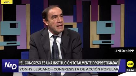 Lescano: Galarreta debe rectificar los errores e irse de la presidencia del Congreso