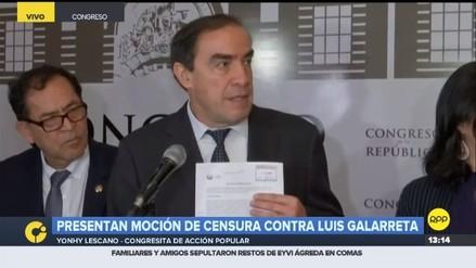 Lescano presenta moción de censura contra Luis Galarreta