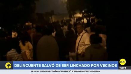 Vecinos de San Martín de Porres capturaron y golpearon a un ladrón