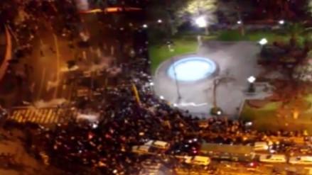 Reportan enfrentamientos durante segunda Marcha contra el Congreso
