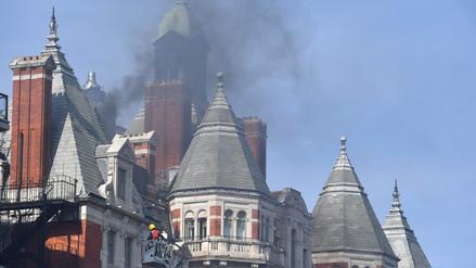 Un incendio se registró en un hotel cinco estrellas de Londres