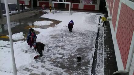 Suspenden clases en cinco colegios de Tacna por bajas temperaturas