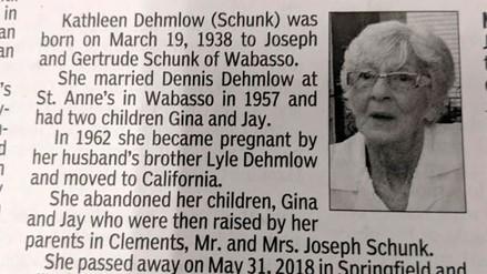 """""""El mundo será un mejor lugar sin ella"""", el obituario lleno de rencor que dos hijos le dedicaron a su madre"""