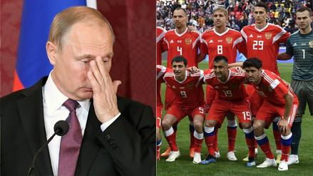 """Vladímir Putin le pide a la Selección de Rusia que """"luche hasta el final"""" en el Mundial"""