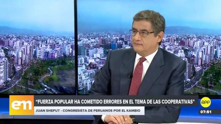 Juan Sheput dijo estar en contra de censurar a Luis Galarreta