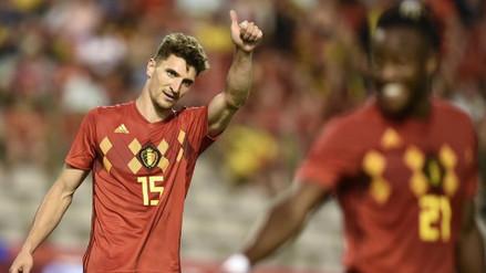 Bélgica goleó 3-0 a Egipto, que sigue esperando a Mohamed Salah
