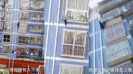 Un 'Spiderman chino' trepó cinco pisos para salvar a un bebé de dos años