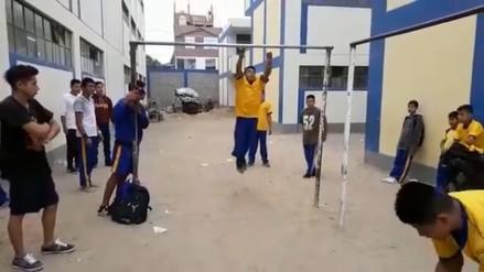 Se viraliza video de escolares con destrezas acrobáticas en Trujillo