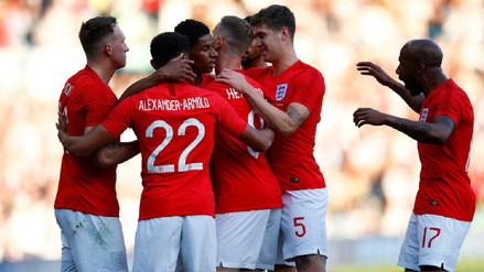 Inglaterra venció 2-0 a Costa Rica en su último amistoso antes de Rusia 2018