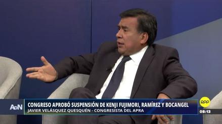Velásquez Quesquén dijo que Galarreta evalúa corregir la votación de suspensión de congresistas