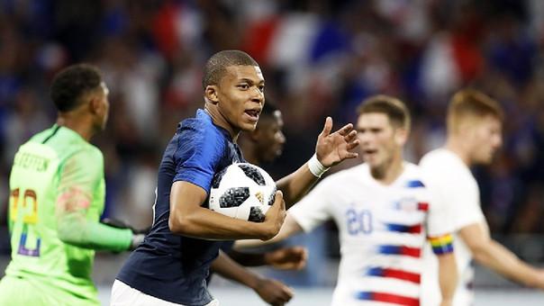 Francia rescató un empate ante Estados Unidos en su último amistoso previo a Rusia 2018