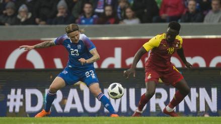 Islandia empató 2-2 con Ghana y aumentó sus dudas a días del Mundial