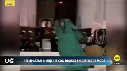Pasarela fantasma: Drones con vestidos reemplazan a mujeres en desfile de modas en Arabia Saudita