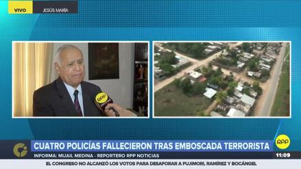 Remigio Hernani denunció que el ataque a policías fue en zona que hasta el 1 de mayo era de emergencia