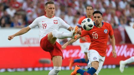 Polonia cedió un empate por 2-2 en casa ante Chile a pesar de ir ganando