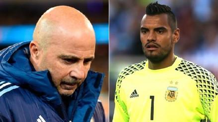 Romero criticó a Sampaoli por dejarlo fuera de la Selección Argentina por lesión
