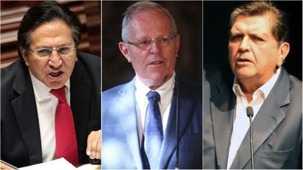 Fiscalía abre investigación preliminar por lavado de activos a Toledo, Kuczynski y García