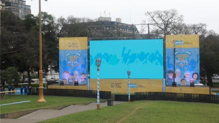 Instalan pantallas gigantes en Argentina para ver el Mundial Rusia 2018