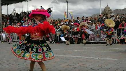 Niños de nivel inicial rindieron homenaje a Cusco en su mes jubilar