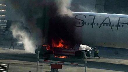 Incendio en aeropuerto alemán de Frankfurt dejó diez heridos